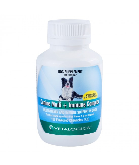 Vetalogica Canine Multivitamin And Immune Complex For Dogs x 120 Tablets