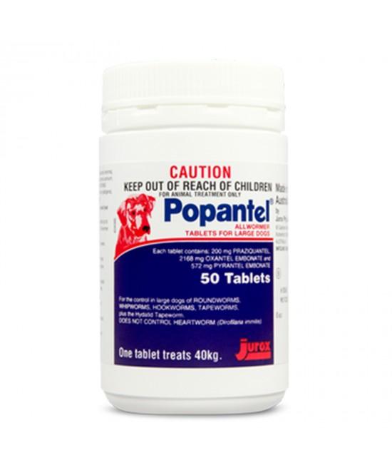 Popantel Allwormer Tablets For Large Dogs 40kg 50 Tablet
