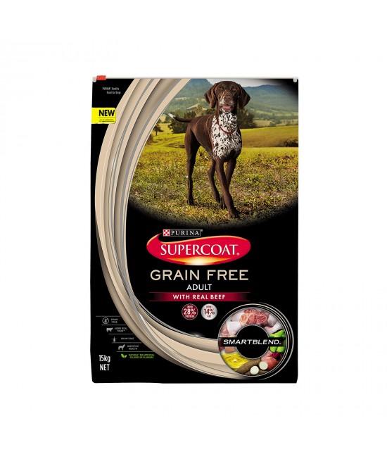 Supercoat Grain Free Beef Adult Dry Dog Dog Food 15kg
