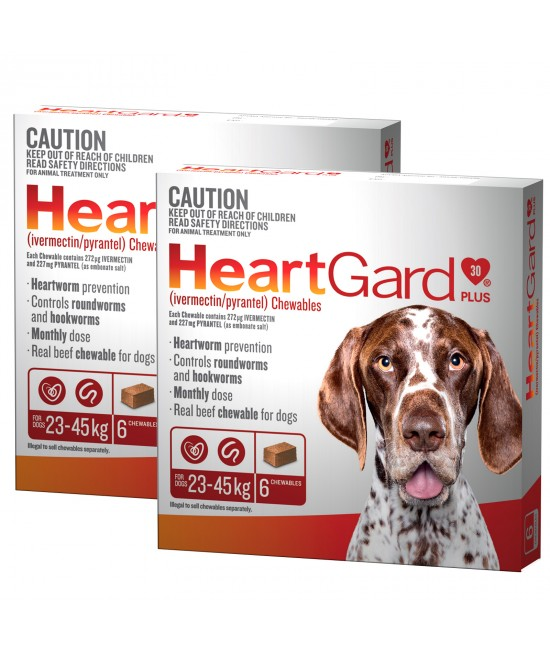 Heartgard Plus For Large Dogs 23-45kg Brown 12 Chewables