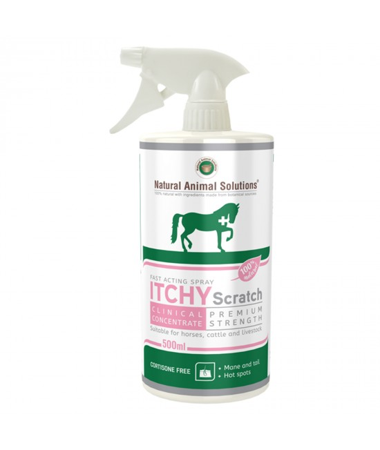 Natural Animal Solutions(NAS) Itchy Scratch Premium Strength Skin Spray For Horses Cattle And Livestock 500ml