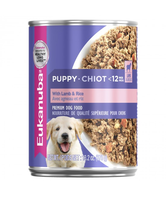 Eukanuba Lamb And Rice Puppy Canned Wet Dog Food 375gm x 12