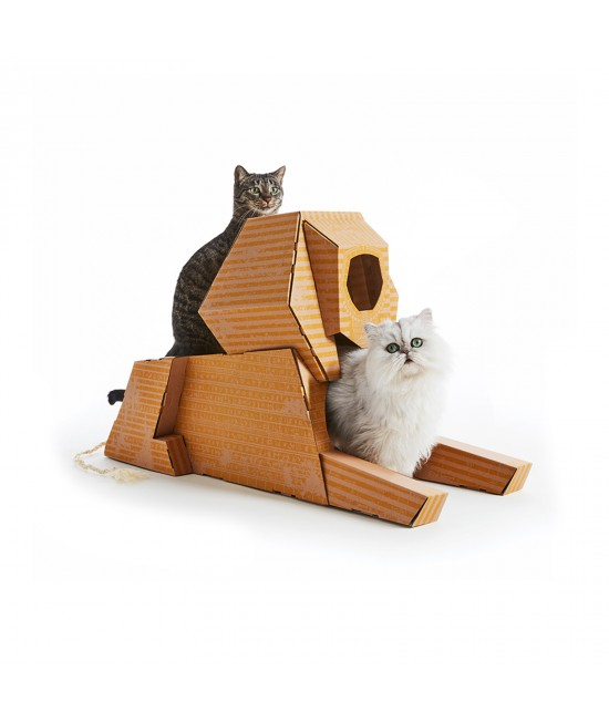 Landmarks Cat Play House System Sphinx Scratch Toy By Poopy Cat