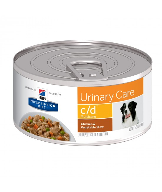 Hills Prescription Diet Canine c/d Urinary Care Chick & Veg Stew 156gm x 24 Canned Wet Dog Food (3388)