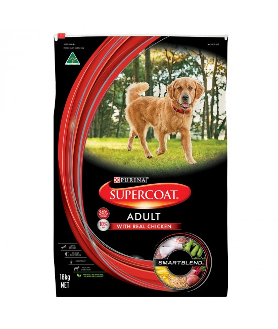 Supercoat Real Chicken Adult Dry Dog Food 18kg