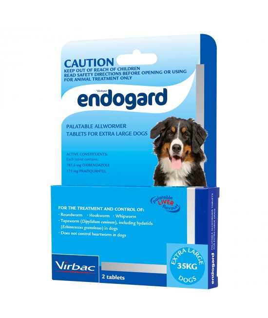 Endogard All Wormer For Dogs Extra Large Dog 2 Tabs