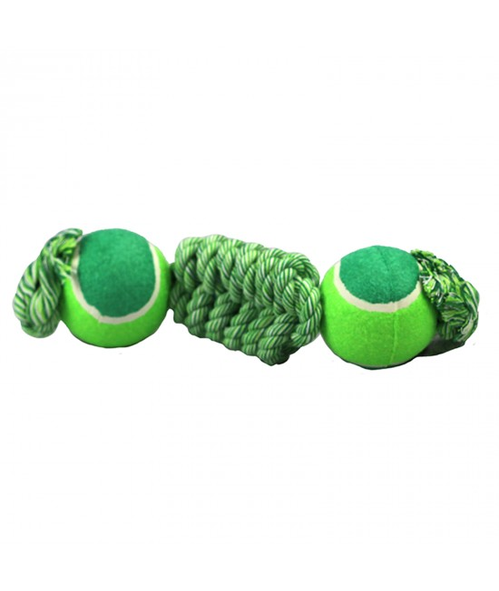 Ultra Fresh Teeth And Breath Double Ended Twister Ball Rope Toy Large For Dogs