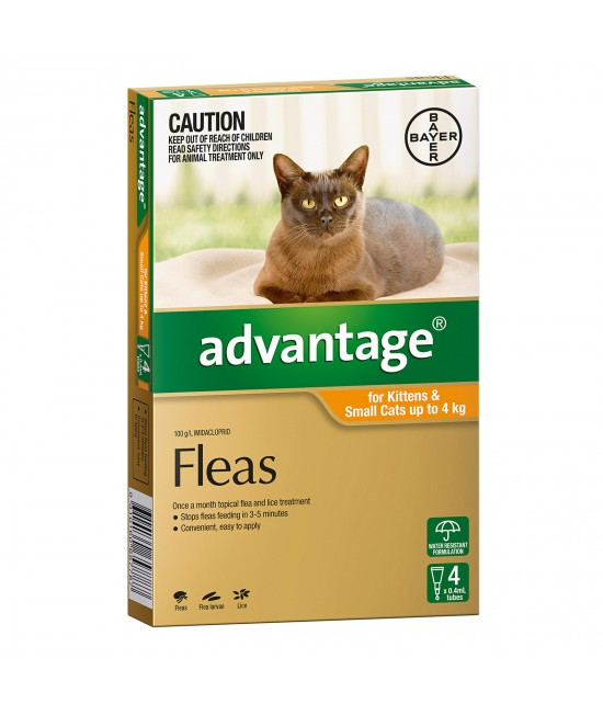 Advantage For Kittens & Small Cats Up To 4kg 4 pack