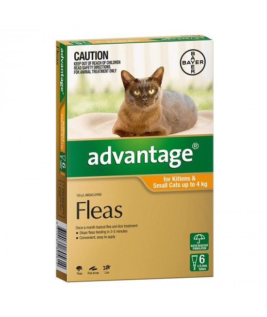 Advantage For Kittens & Small Cats Up To 4kg 6 pack