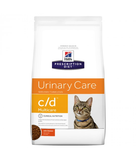 Hills Prescription Diet Feline c/d Urinary Care Multicare Adult Dry Cat Food 1.5kg (10369HG)