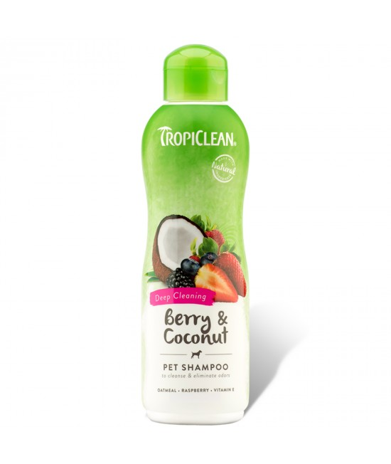 Tropiclean Berry And Coconut Deep Cleaning Shampoo For Cats And Dogs 355ml