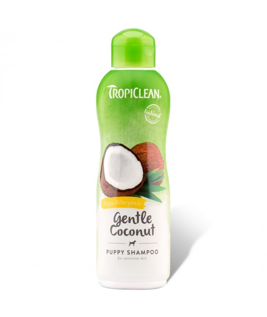 Tropiclean Gentle Coconut Hypo Allergenic Shampoo Puppy For Cats And Dogs 355ml