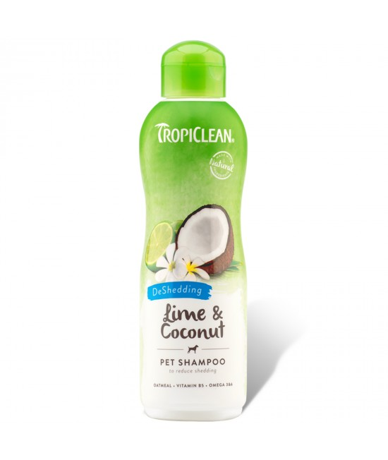 Tropiclean Lime And Coconut DeShedding Shampoo For Cats And Dogs 355ml