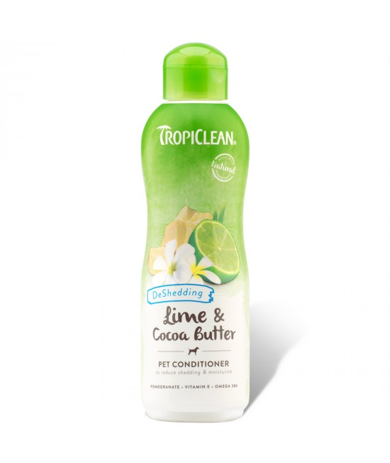 Tropiclean Lime And Cocoa Butter DeShedding Conditioner For Cats And Dogs 355ml