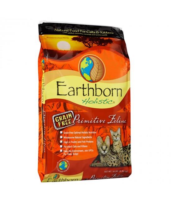 Earthborn Grain Free Primitive Turkey Chicken Kitten And Adult Dry Cat Food 6.36kg
