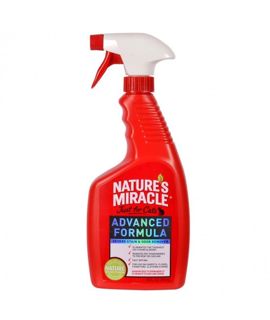 Natures Miracle Just For Cats Advanced Stain And Odour Remover Spray 709ml