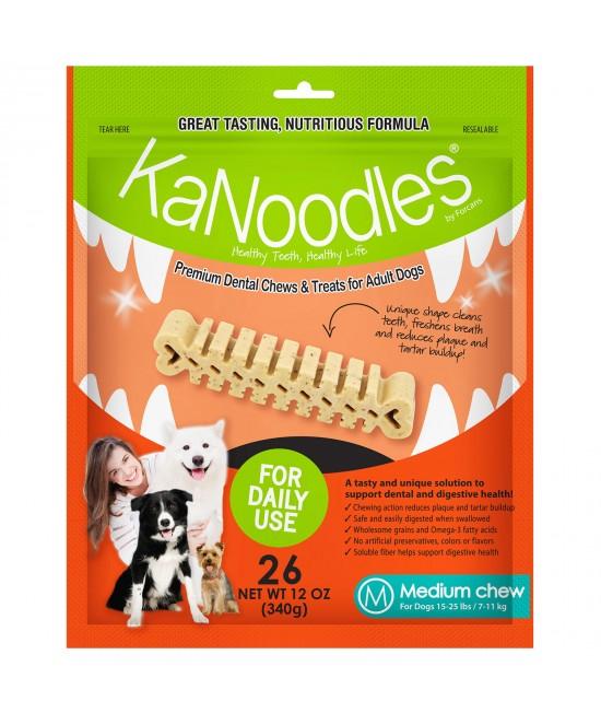 KaNoodles Dental Chew Medium Treats For Dogs 26 Chews 340gm