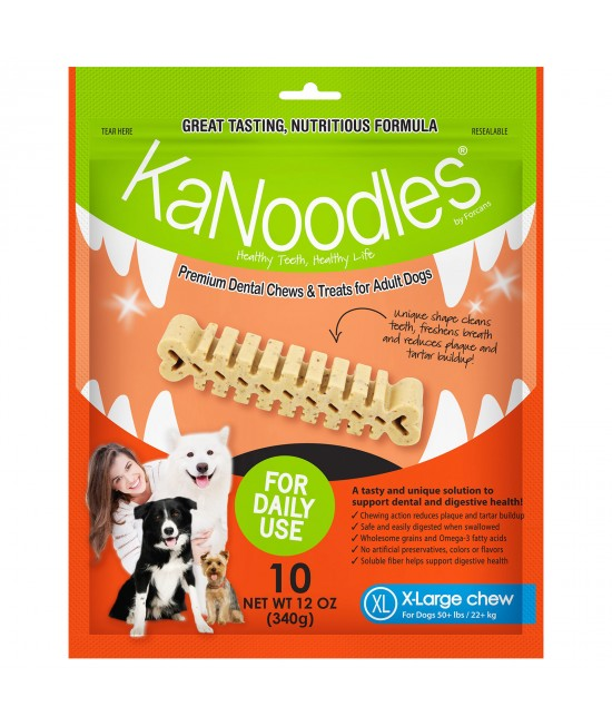 KaNoodles Dental Chew XLarge Treats For Dogs 10 Chews 340gm
