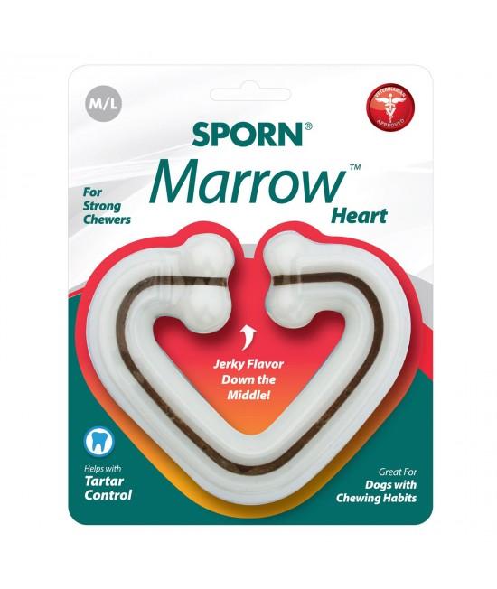 Sporn Marrow Nylon Heart Bone Medium Large Toy For Dogs