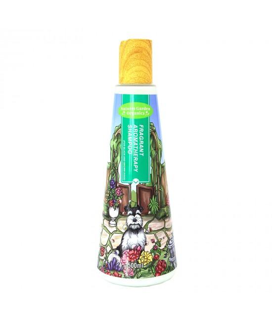 Natures Garden Organics Fragrant Aromatherapy Black Brown Dog Shampoo For Dogs 500ml