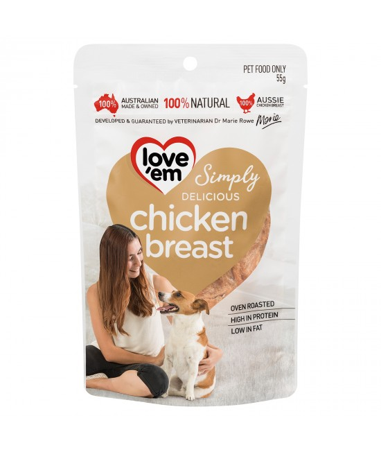 Love em Chicken Breast Treats For Dogs 55gm