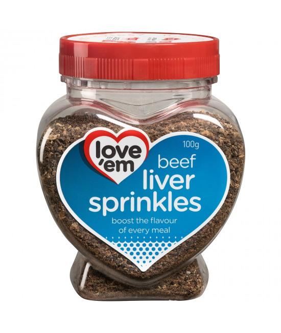 Love em Beef Liver Sprinkles Treats For Dogs 100gm