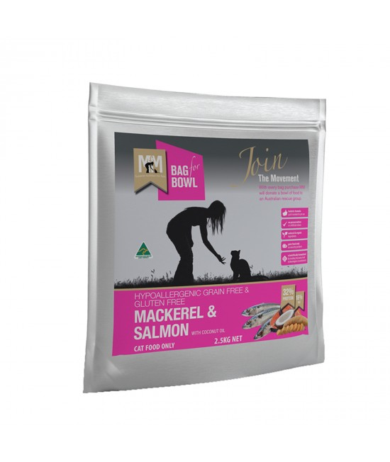 Meals For Meows MfM Grain Free Mackerel And Salmon Dry Cat Food 2.5kg