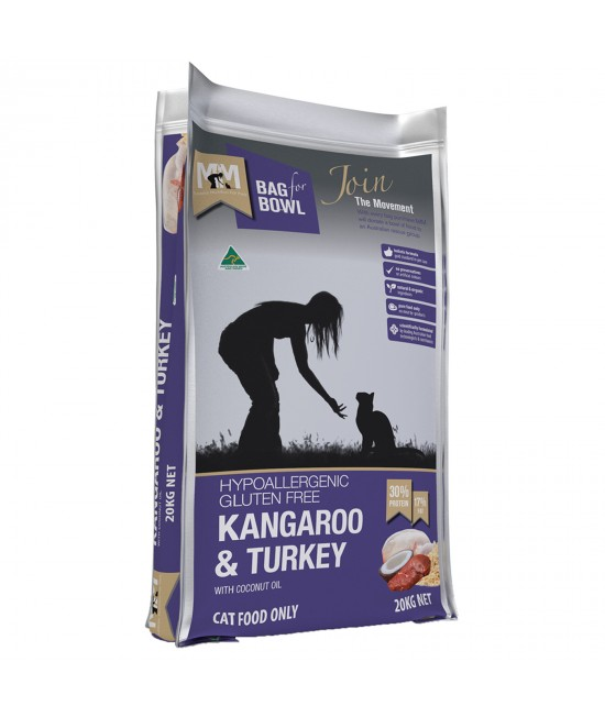 Meals For Meows MfM Kangaroo And Turkey With Brown Rice Dry Cat Food 20kg