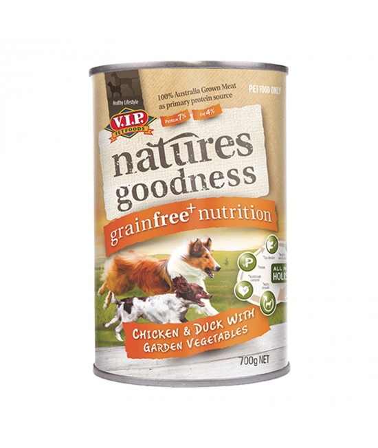 Natures Goodness With Chicken, Duck And Garden Vegetables Adult Canned Wet Dog Food 700gm x 12