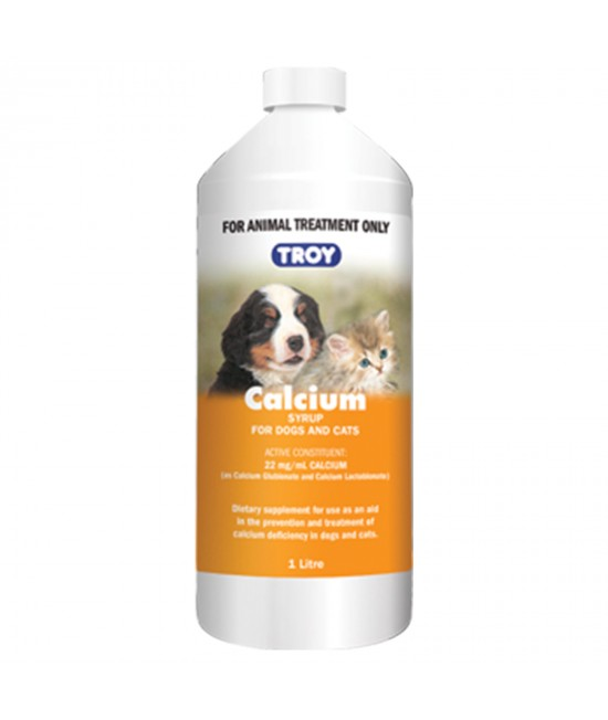 Troy Calcium Syrup For Dogs And Cats 1L
