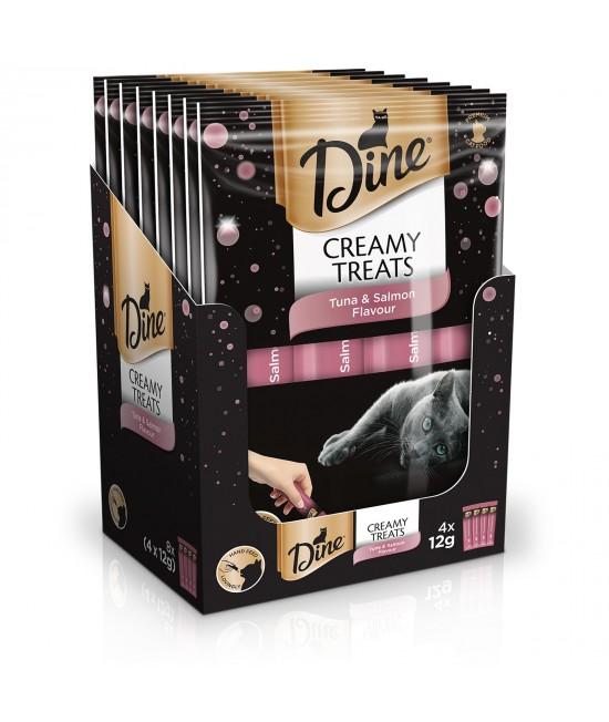 Dine Creamy Treats Tuna And Salmon Paste Treat For Cats 12gm x 32
