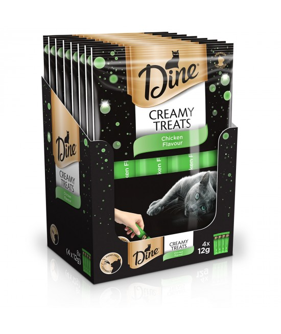 Dine Creamy Treats Chicken Flavour Treat For Cats 12gm x 32