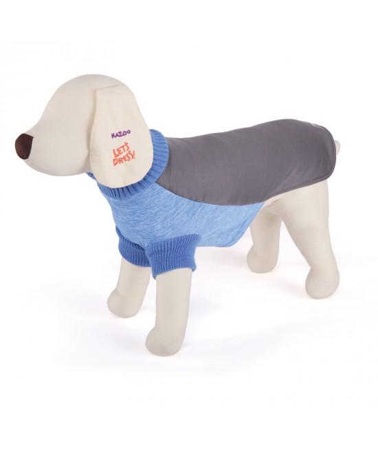 Kazoo Active Jumper Dog Coat Aqua And Grey XXSmall 27cm