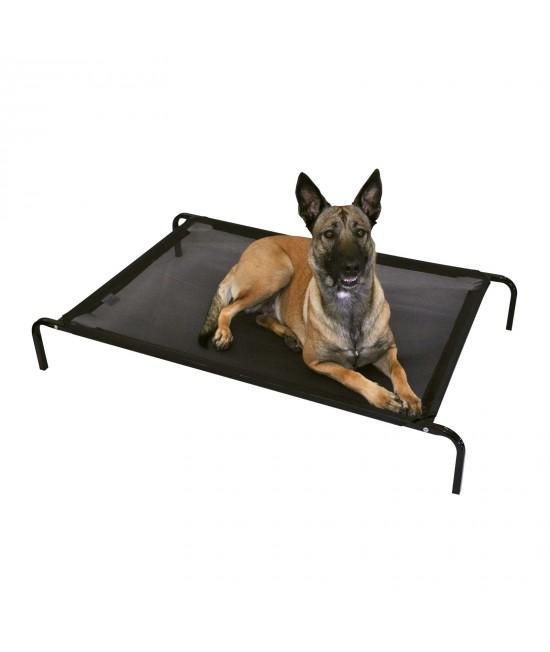 FlashPet Heavy Duty Trampoline Bed Black Mesh Large - XLarge 130cm x 80cm x 19cm For Dogs