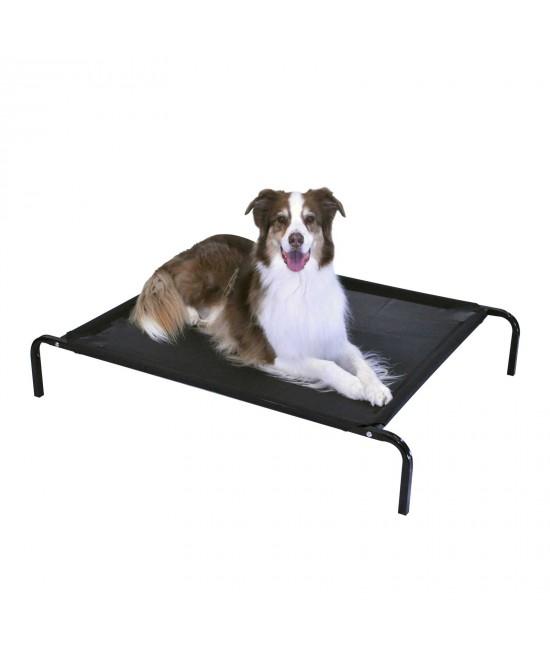 FlashPet Heavy Duty Trampoline Bed Black Mesh Medium - Large 110cm x 80cm x 19cm For Dogs