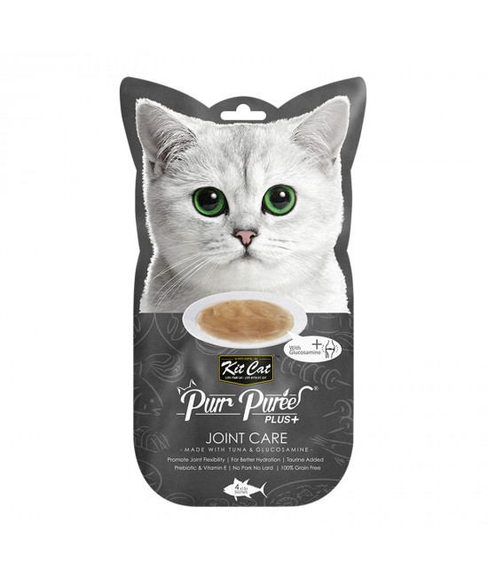 Kit Cat Purr Puree Plus+ Joint Care Tuna Paste Treats For Cats 4 x 15gm