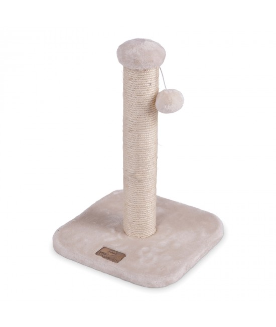 Kazoo Cat Scratching Post Cream Small With Ball Toy For Cats