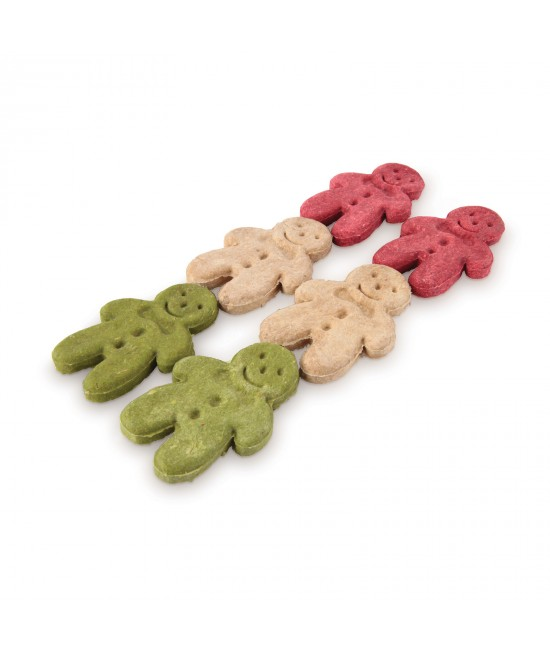 Kazoo Christmas Gingerbread Man Munchy Chews Treat For Dogs 6 Pack 140gm