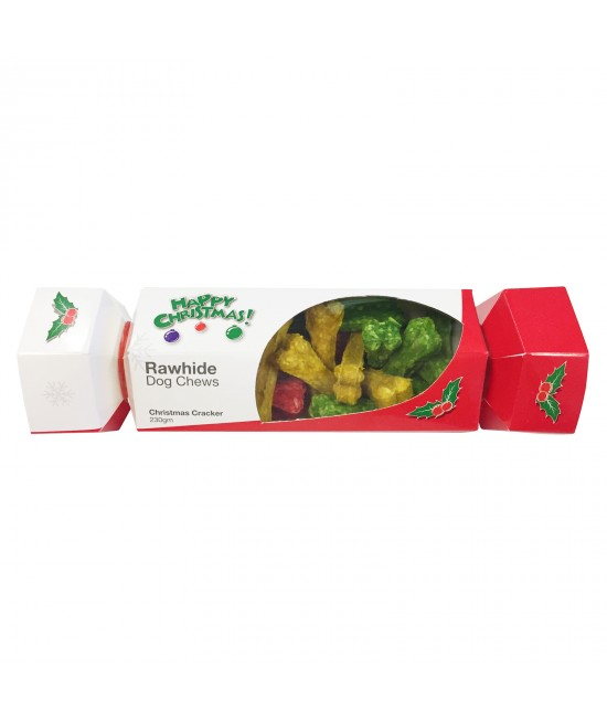 Kazoo Christmas Cracker Bon Bon With Munchy Mini Bone Treats For Dogs 230gm