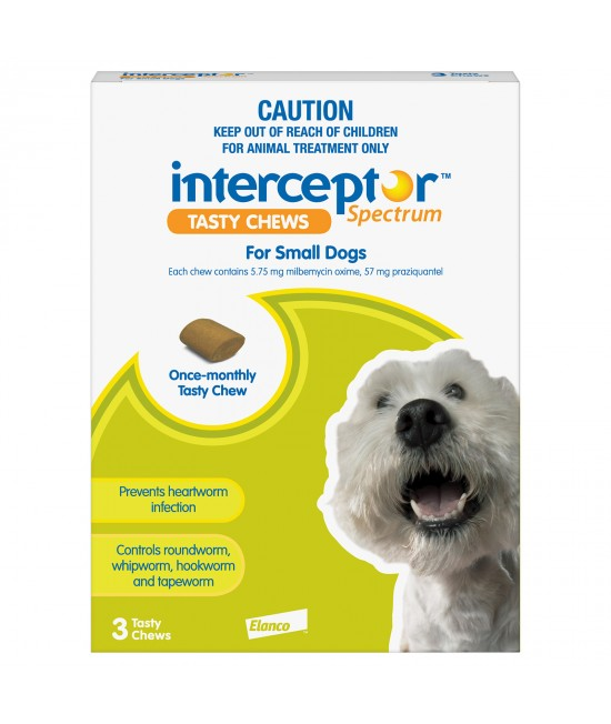 Interceptor Spectrum For Dogs 4-11kg Green 3 chews