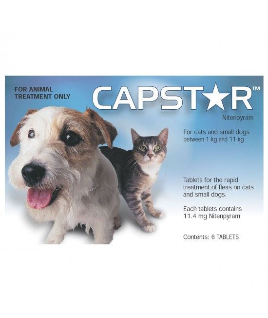 Capstar For Small Dogs & Cats 0.5-11kg 6 tablets