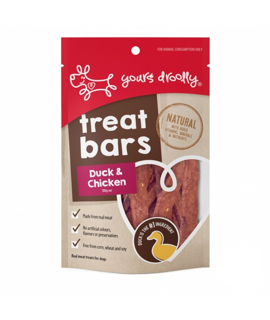 Yours Droolly Treat Bar Duck And Chicken Treats For Dogs 100gm