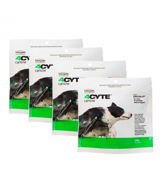 4CYTE Canine Joint Support For Dogs 4 x 100gm