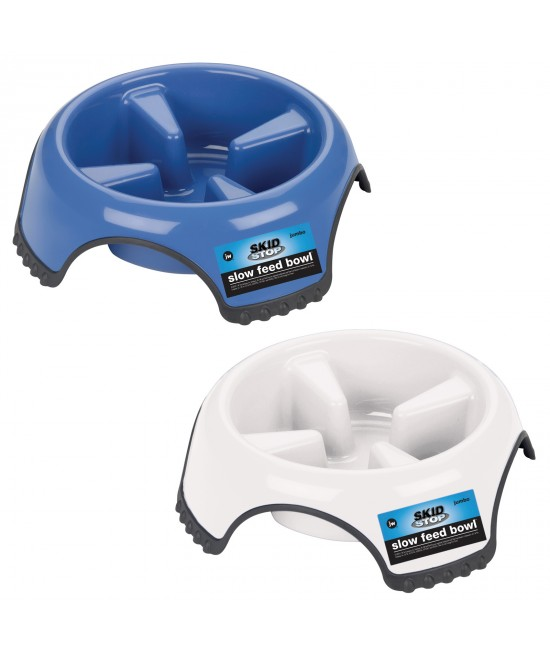JW Skid Stop Slow Feed Jumbo Bowl For Dogs 1.5L
