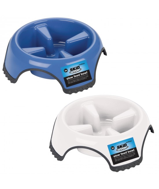 JW Skid Stop Slow Feed Medium Bowl For Dogs 400ml