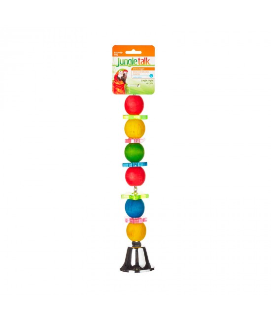 Jungle Talk Jungle Jingle Acrylic Large Toy For Birds