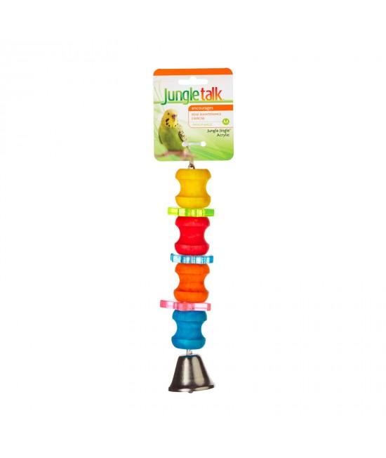 Jungle Talk Jungle Jingle Acrylic Medium Toy For Birds