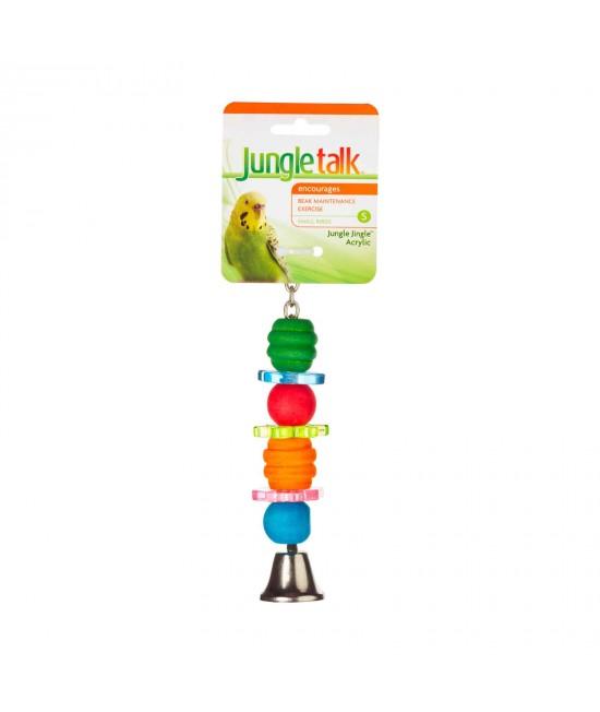 Jungle Talk Jungle Jingle Acrylic Small Toy For Birds