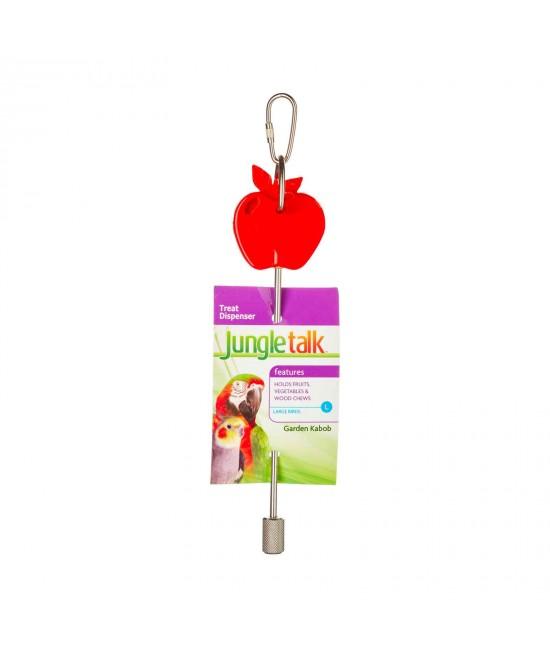 Jungle Talk Garden Kabob Fruit Vegetable Treat Dispenser Large Toy For Birds