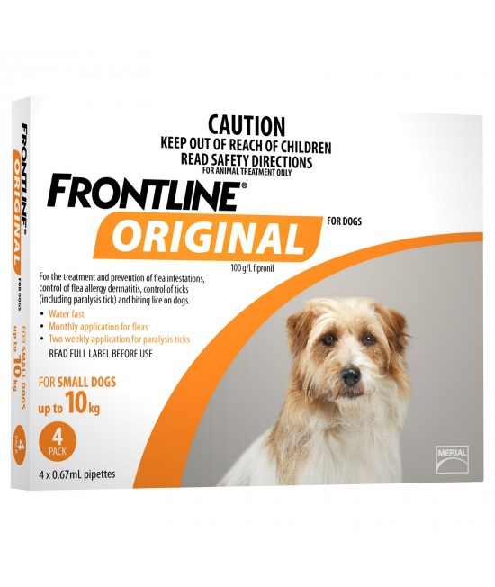Frontline Original For Small Dog Up To 10kg 4 Pack